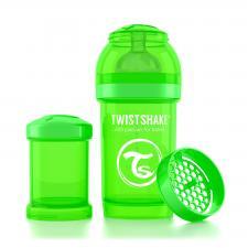 Бутылочка twistshake 180 мл. зелёная
