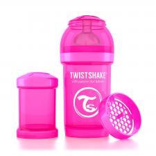 Бутылочка twistshake 180 мл. розовая
