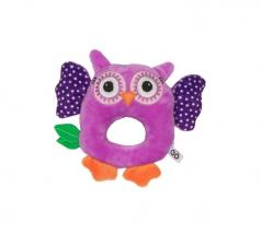 Фиолетовая погремушка zoocchini сова