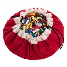 Play-and-go classic красный мешок для хранения игрушек и игровой коврик