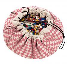 Мешок для игрушек play-and-go print розовый бриллиант