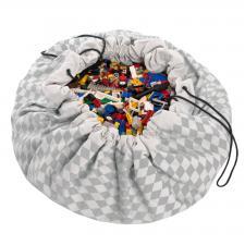 Мешок для игрушек play-and-go print серый бриллиант