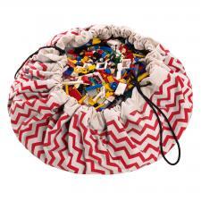 Мешок для игрушек play-and-go print красный зигзаг