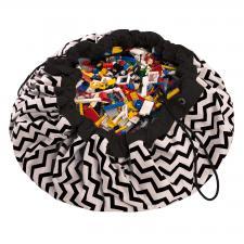 Мешок для игрушек play-and-go print чёрный зигзаг