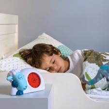 Часы-будильник сэм zazu синий ребёнок спит