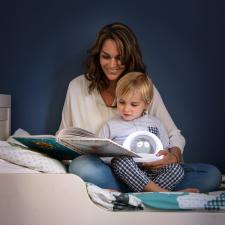 Ночник zazu сова лу серая мама с ребёнком