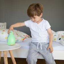 Цветовой будильник zazu пингвинёнок пэм синий