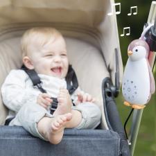 Малыш в коляске с подкрепленным пингвин зои zazu розовый