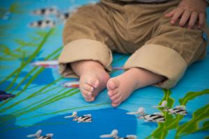 мягкий коврик для детей с рыбками