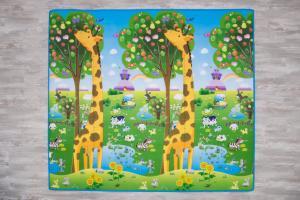 коврик цифры и счет с жирафами