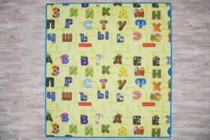 детский двусторонний коврик с буквами
