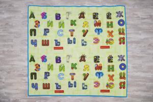 коврик babypol забавный алфавит с мишками