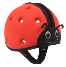 Шапка-шлем safeheadbaby красный вид сбоку