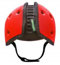 Шапка-шлем safeheadbaby красный вид сзади