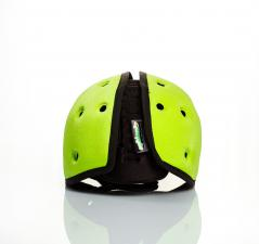 Шапка-шлем safeheadbaby зелёный вид сзади