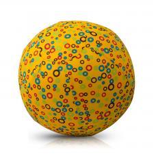 bubabloon чехол в кружочек жёлтый цвет