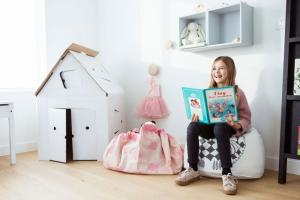 Девочка с мешком designer от allc розовый слон