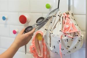 Мини мешок принт вишенка в ванной