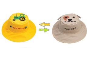 Детская панама трактор-собака