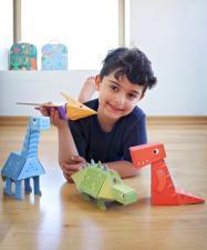 тираннозавр из картона
