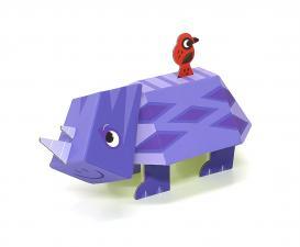 картонный носорог krooom