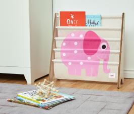Подставка для книг розовый слон с книжками