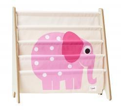 Стойка для книг 3 sprouts розовый слон