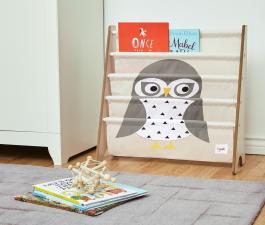 Стойка из ткани для книг снежная сова