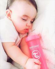 Розовая антиколиковая бутылочка 330 мл.