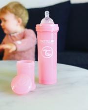 Розовая бутылочка 330 мл. с сито и контейнером