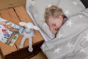 серый ночник с таймером для сна