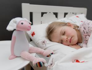 розовый ночник с таймером для сна